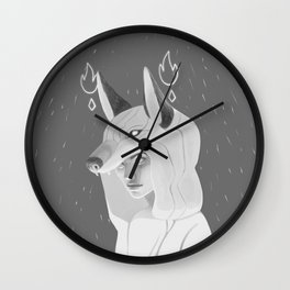 Wilczyca - Grey Wall Clock