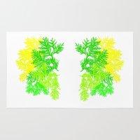 fern Area & Throw Rugs featuring Fern by Sreetama Ray