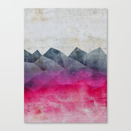 Pink Concrete Canvas Print