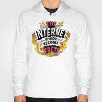 internet Hoodies featuring The Internet. by Chris Piascik