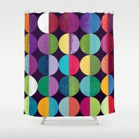 the moon Shower Curtains featuring Moon by Kakel