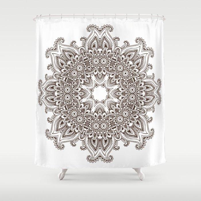 Mandala Bohemian Embellishments Medallion Shower Curtain