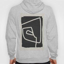 abstract minimal 57 Black & White Hoody
