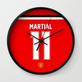 Martial Edition - Manchester United Home 2017/18 Wall Clock