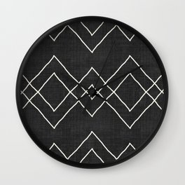 Nudo in Black and White Wall Clock