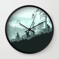 the goonies Wall Clocks featuring Never Say Die by Ape Meets Girl