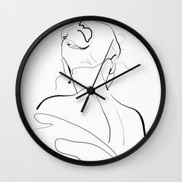 Woman-line art Wall Clock