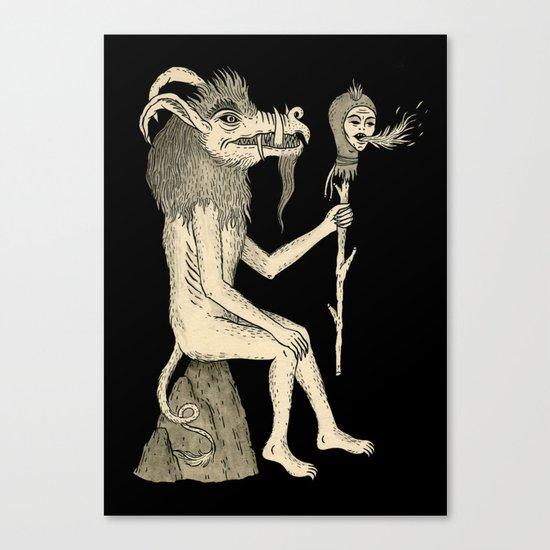 Creature Holding Sceptre Canvas Print