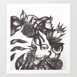 Rosas y espinas Art Print