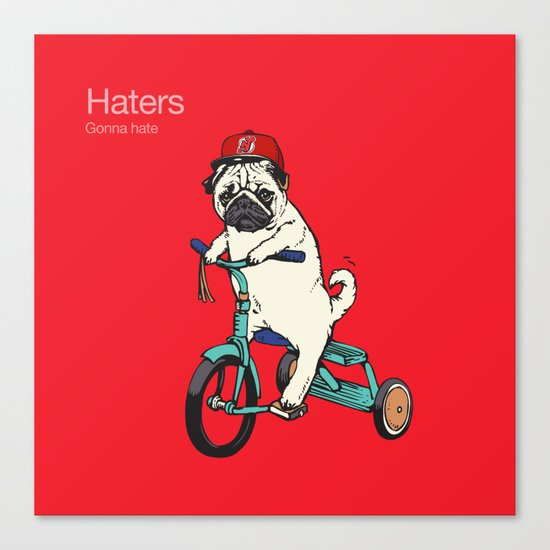 Haters gonna hate NJ Canvas Print