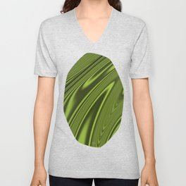 Abstract Fractal Colorways 03 Malalchite Lime Green Unisex V-Neck
