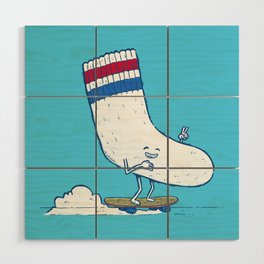 Lost Sock Skater Wood Wall Art