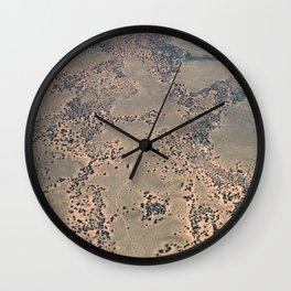 Mojave Desert bird's eye view Wall Clock