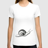 snail T-shirts featuring Snail by Aubree Eisenwinter