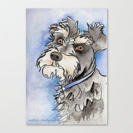 Scribble Schnauzer Canvas Print