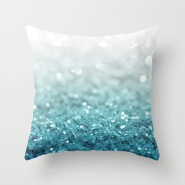 MERMAID GLITTER - MERMAIDIANS AQUA Throw Pillow