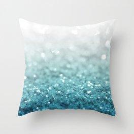 MERMAID GLITTER - MERMAIDIANS AQUA Throw Pillow