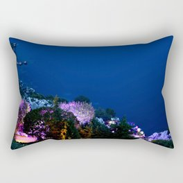 Evening Event in Eze Village Rectangular Pillow