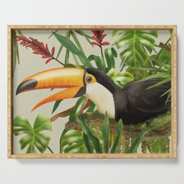 Toco Toucan vintage illustration. Serving Tray