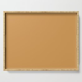 NOW SAFFRON STRANDS Golden Ocher Warm Pastel solid color Serving Tray