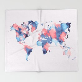 map world map 58 Throw Blanket