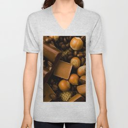 Chocolate and Nuts Unisex V-Neck