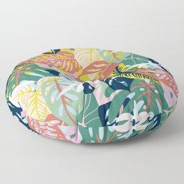 Caladium and Monsteras  Floor Pillow