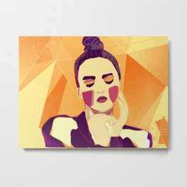 The yellow muse Metal Print