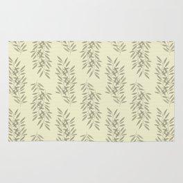 Linen Leaves Rug