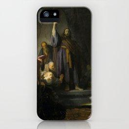 The Raising of Lazarus - Rembrandt iPhone Case