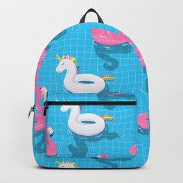 Pool Party flamingo, unicorn Backpack