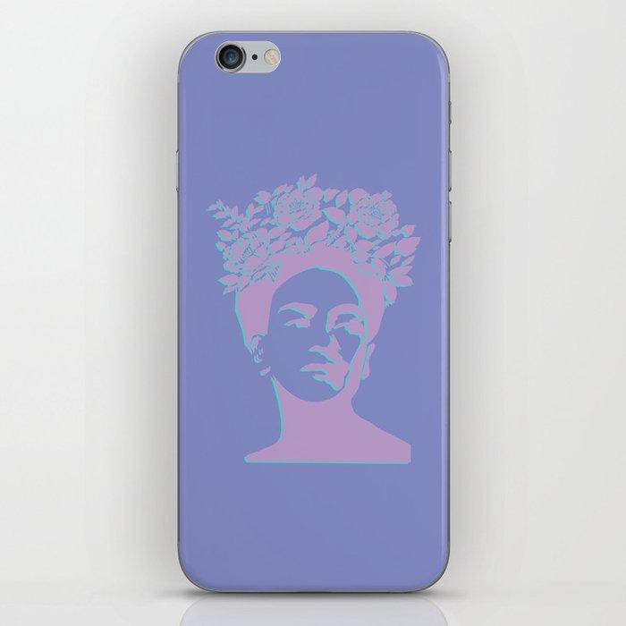 frida kahlo (purple version) iPhone Skin