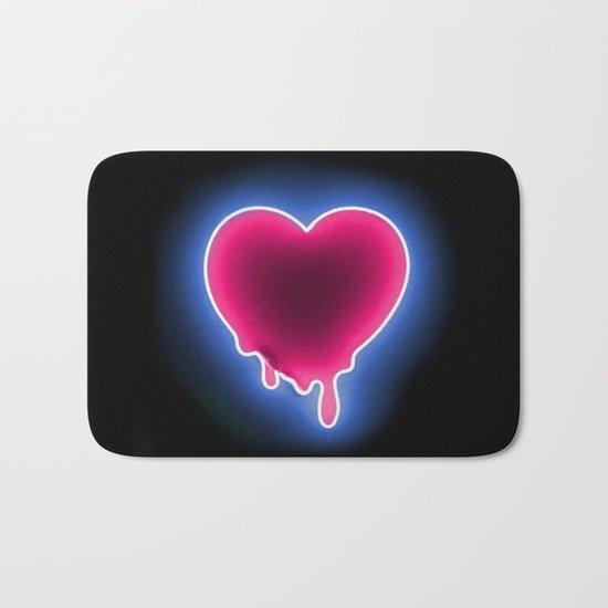 Heart // Neon Bath Mat