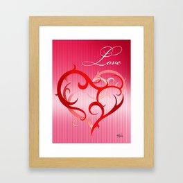 CURLIQUE HEART Framed Art Print