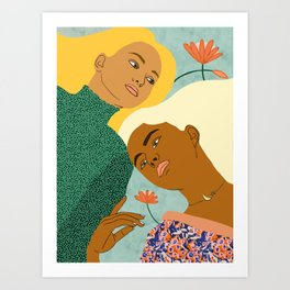Two Souls One Body ||  #painting #illustration Art Print