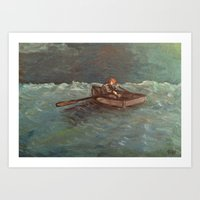 Chained to the Oar Art Print