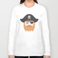 pirate Long Sleeve T-shirts featuring Pirate by Beardy Graphics