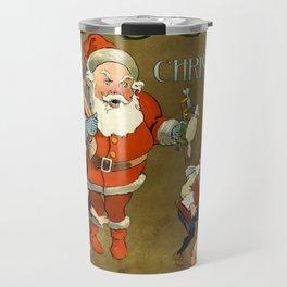 1901 Puck Magazine Christmas issue Santa children Travel Mug