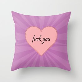 EFF YOU Throw Pillow
