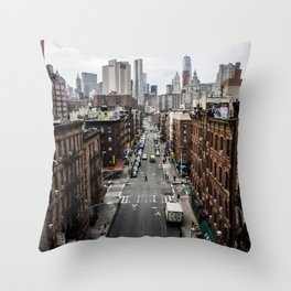 Chinatown of NYC Throw Pillow