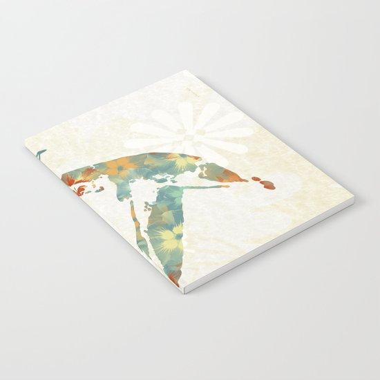Colorful Teal Hummingbird Art Notebook