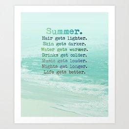 SUMMER by Monika Strigel Art Print