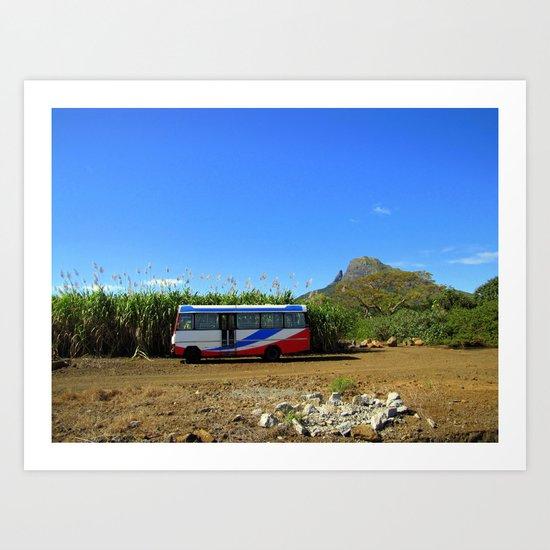 "Bus Stop (Bambous) ""A SAFE PLACE"" series Art Print"