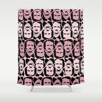 edgar allan poe Shower Curtains featuring Edgar Allan Poe Print by MonicaQu