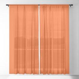 Solid Shades - Flame Sheer Curtain
