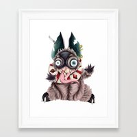 bucky Framed Art Prints featuring Bucky by Maria Gabriela Arevalo Reggeti