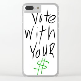 vote Clear iPhone Case
