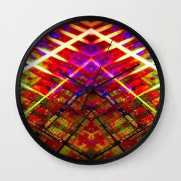 Computer Circuit Board Kaleidoscopic Design Wall Clock