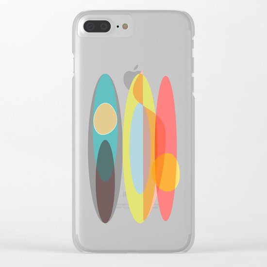 SURF  #Society6 #decor #buyArt Clear iPhone Case