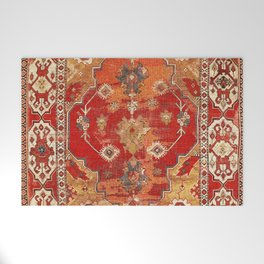 Transylvanian West Anatolian Carpet Print Welcome Mat
